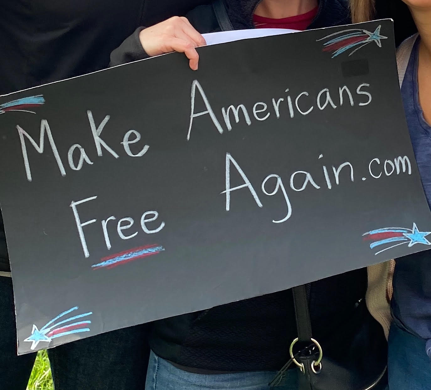 Make Americans Free Again Sign